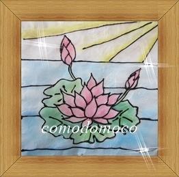 蓮の花 ステンドグラスアート