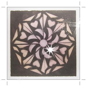 八角形万華鏡アート ハート