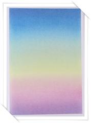 きままハウスアートの体験で描く虹色グラデーション