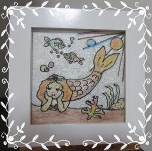 人魚のお昼寝 ステンドグラスアート