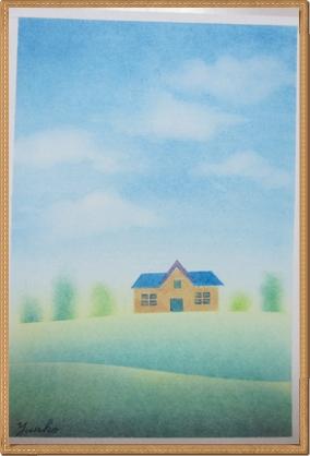 きままハウスアートの体験講座で描く絵1