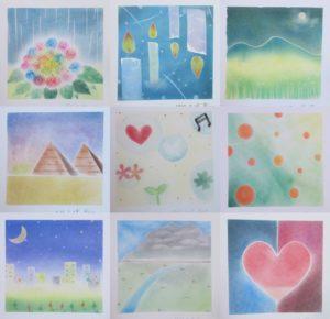 パステル和アート 準インストラクター講座で描かれた生徒さんの作品