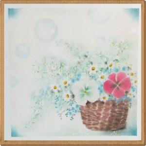 パンジーの花籠2