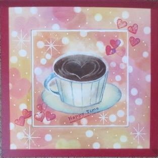 マット額装したコーヒーカップ